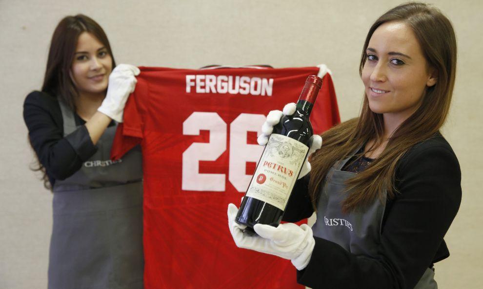 Auction the cellar of the legend of english footbal, Sir Alex Ferguson