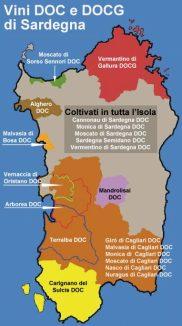 sardegna map wine